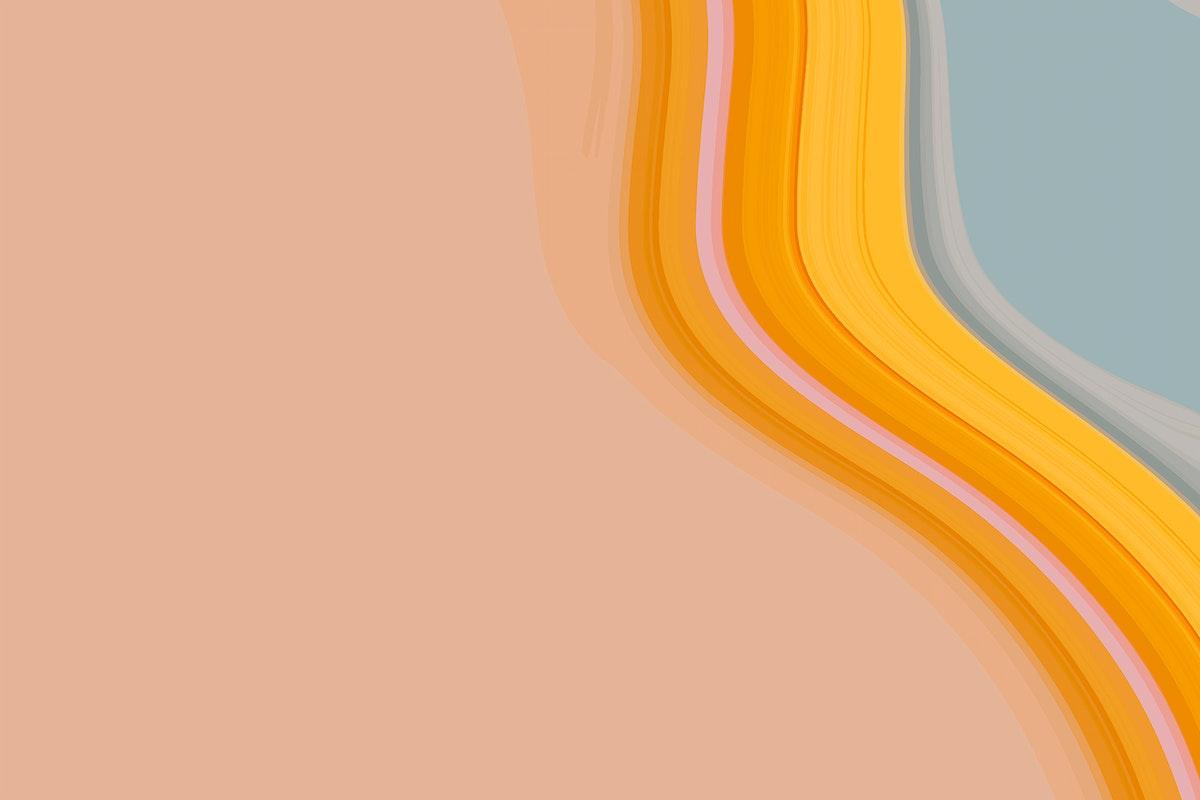 Orange and blue fluid patterned background vector
