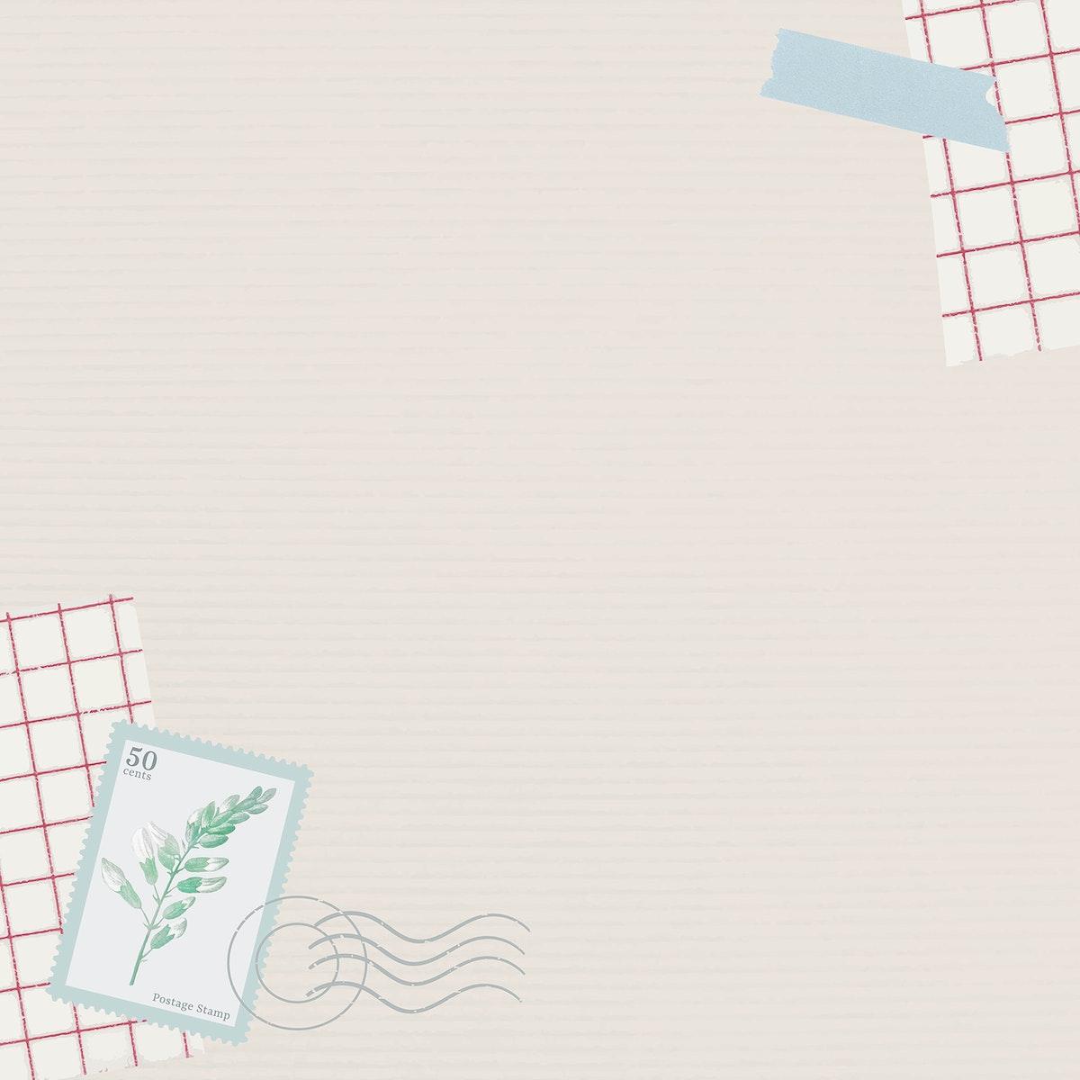 Leaf stamp on beige background vector
