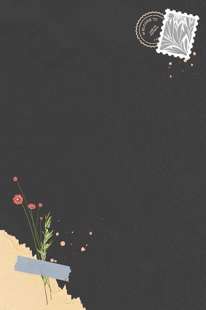 Red flower on dark background vector