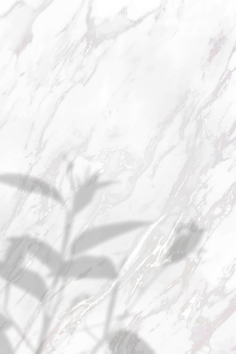 Floral shadow on white marble background vector