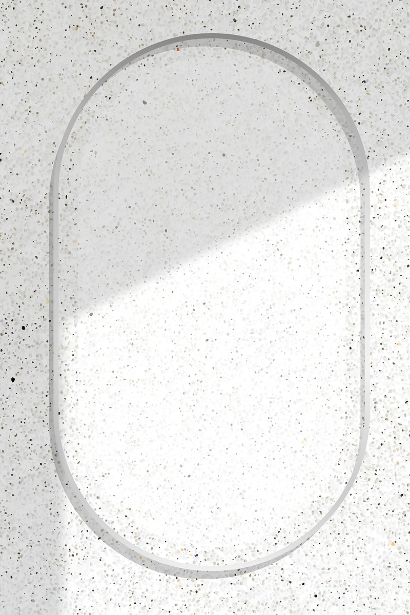 Oval silver frame with on shadowed white marble background vector