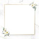 Blank floral square frame vector