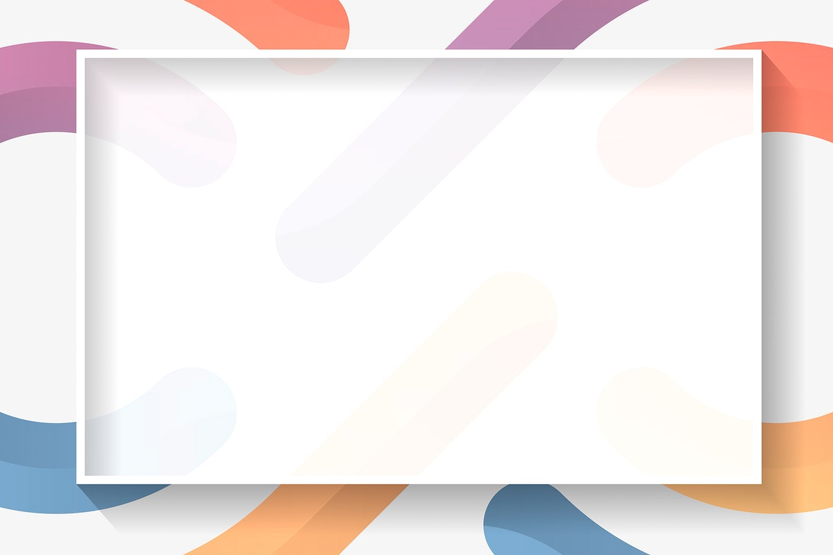 Blank rectangle colorful abstract frame vector