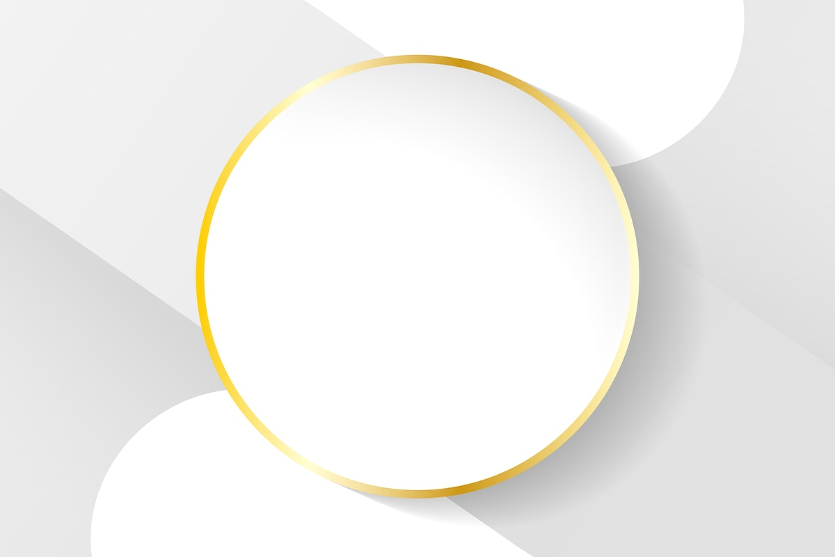 Blank circle white abstract frame vector