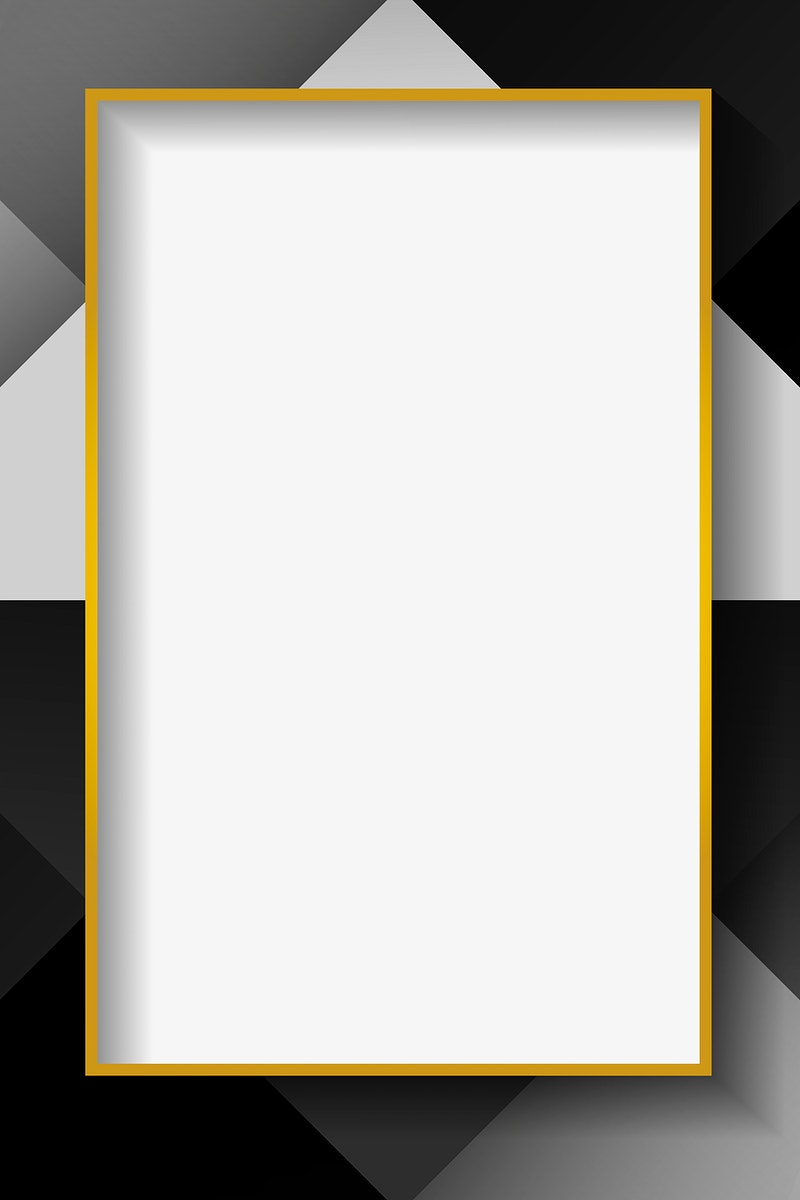 Blank rectangle white abstract frame vector