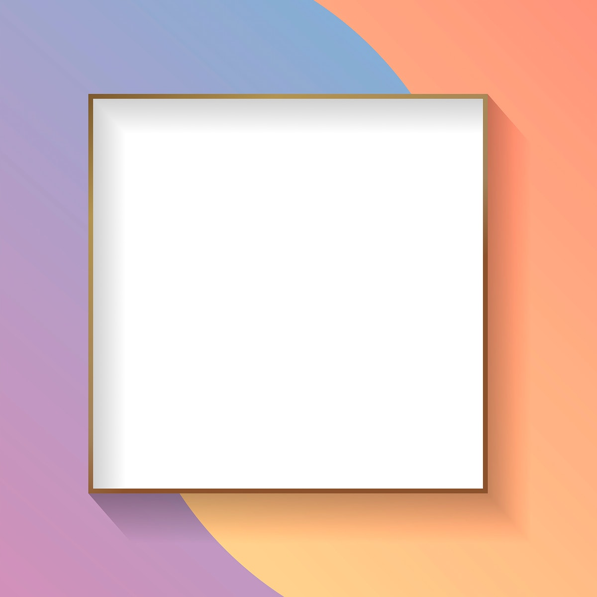 Blank square colorful abstract frame vector
