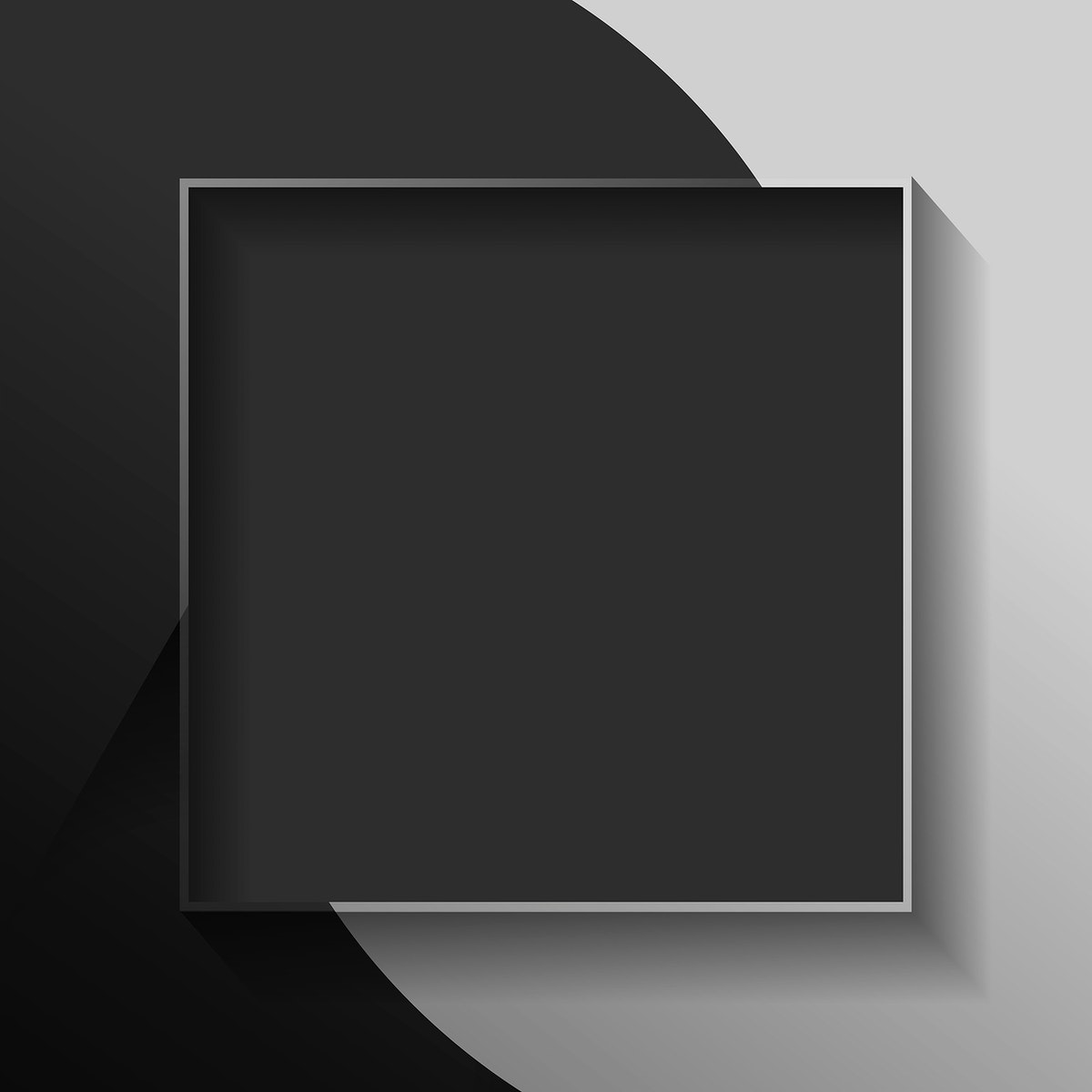 Blank square black abstract frame vector