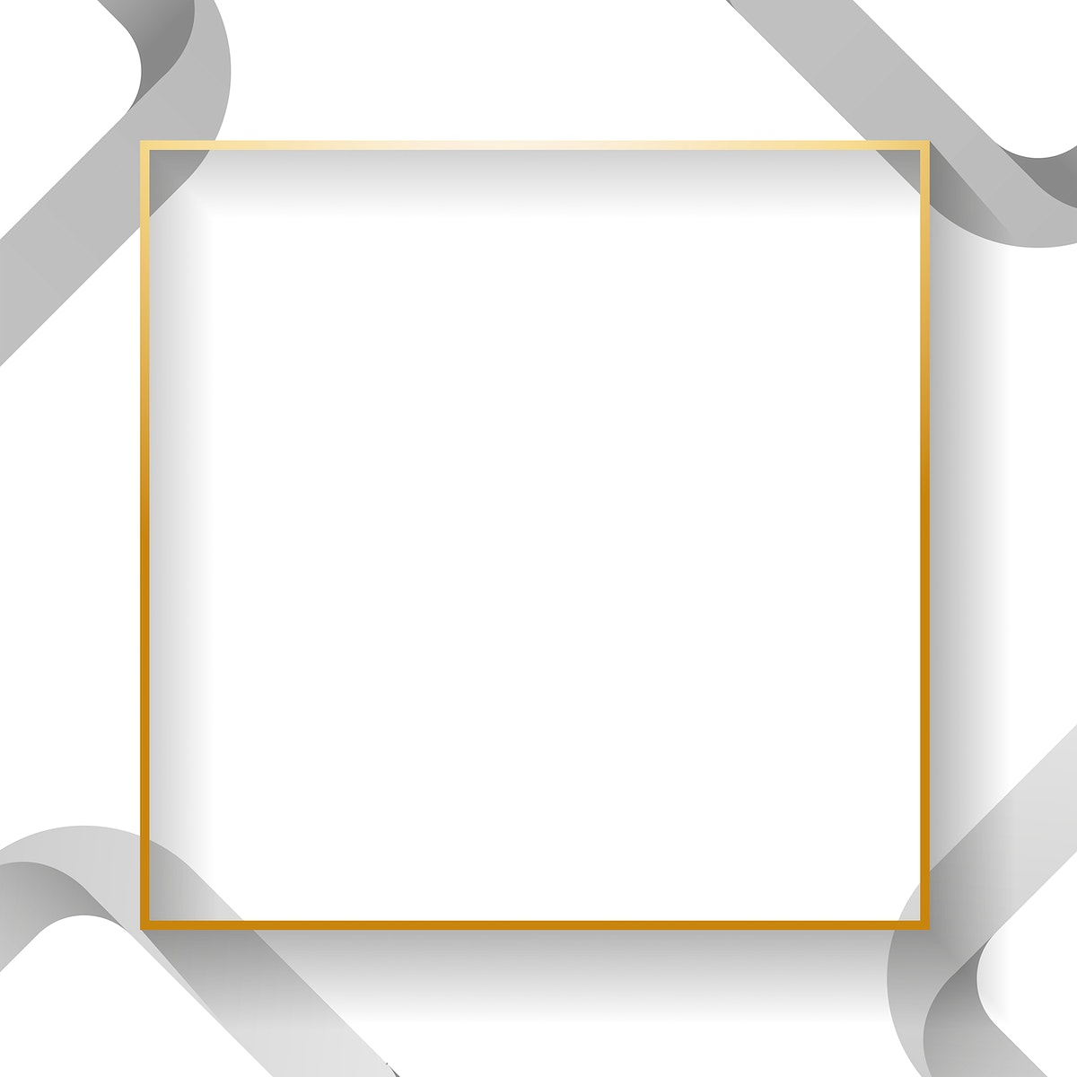 Blank white square abstract frame vector