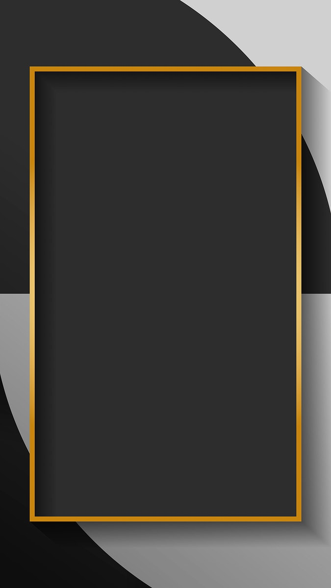 Blank rectangle black abstract frame vector