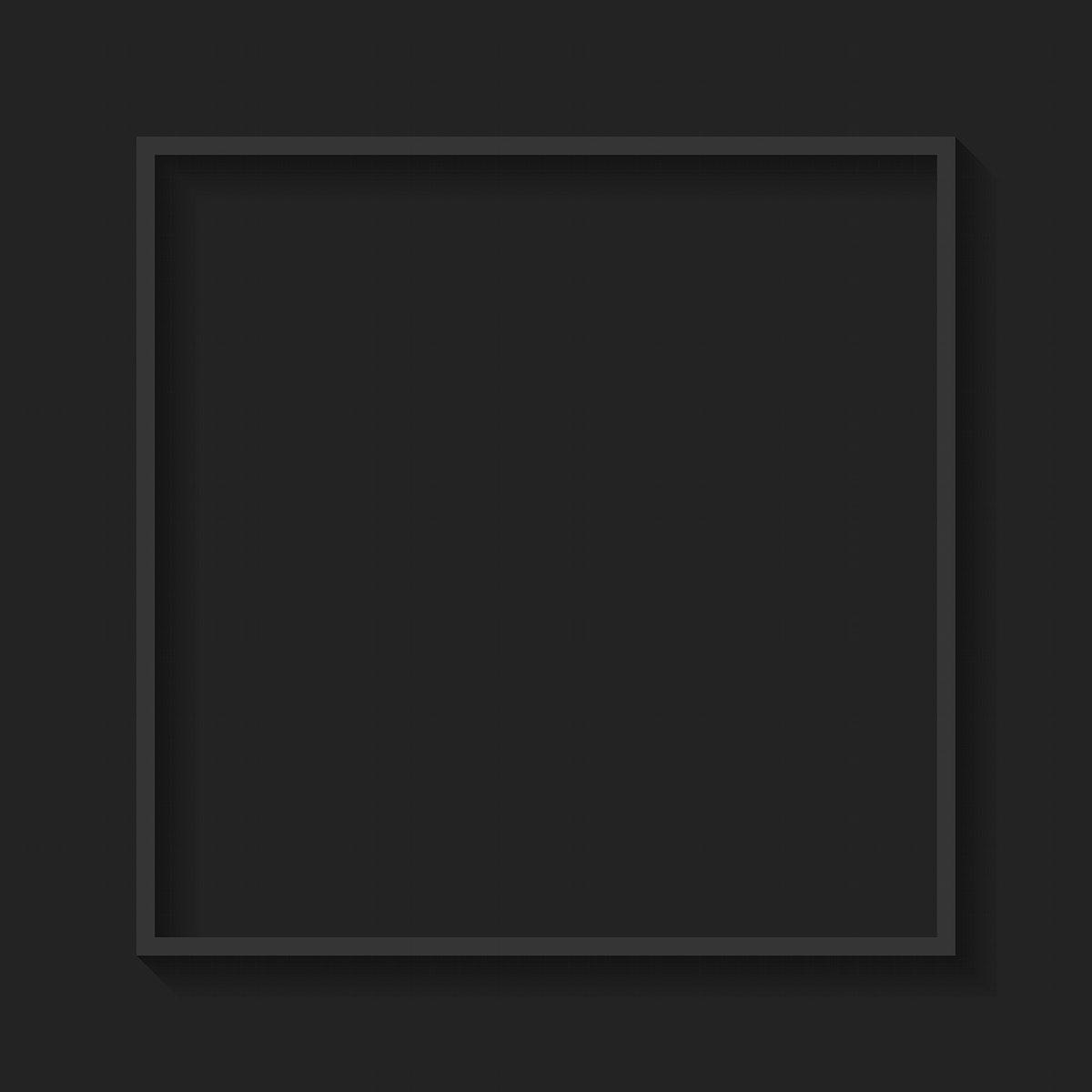 Square gray frame on black background vector