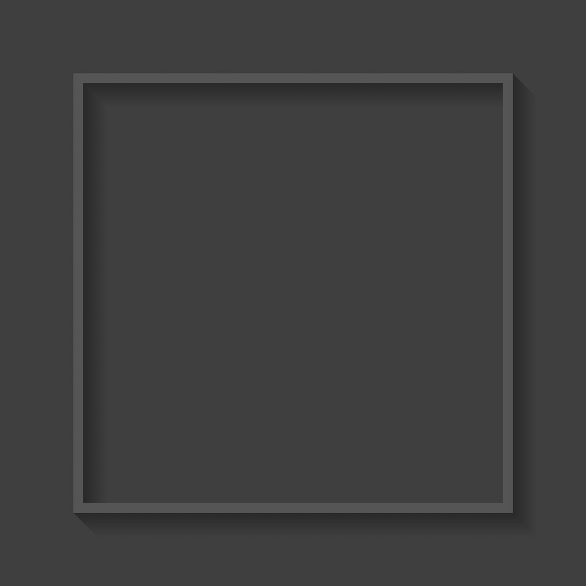 Square frame on gray background vector