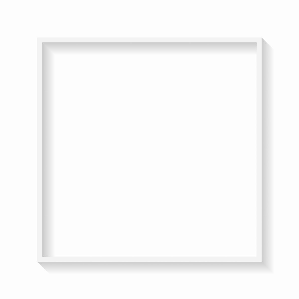 Square white frame background template vector