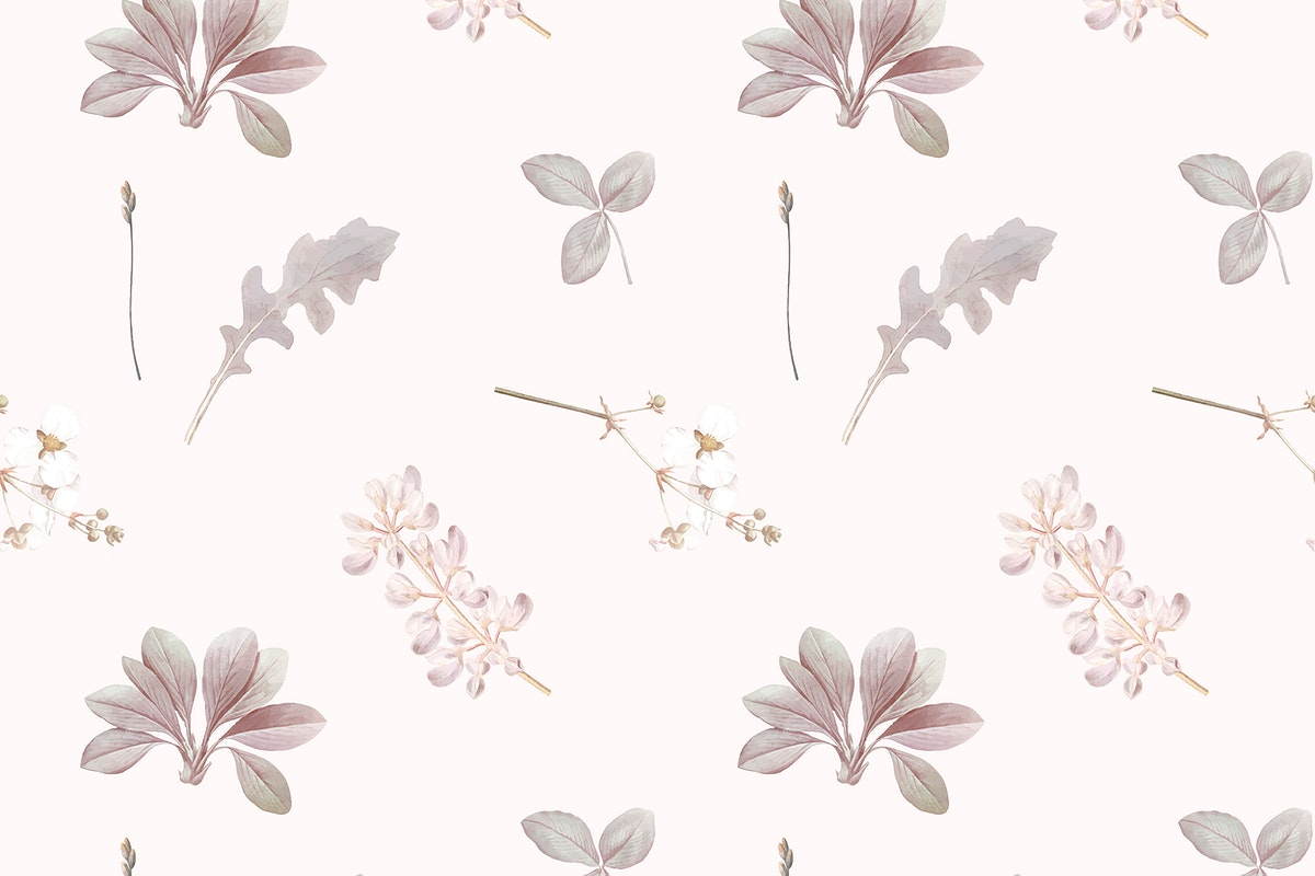 Floral seamless pattern on gray background vector