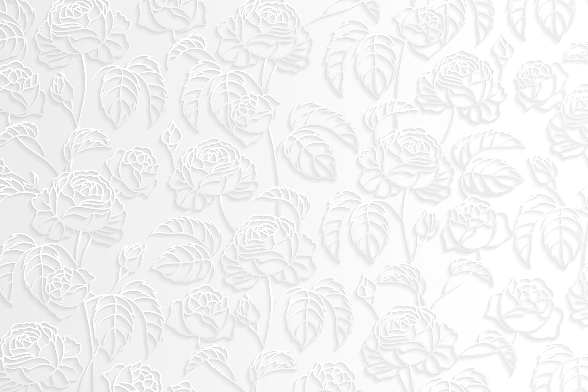 Silver floral pattern background vector