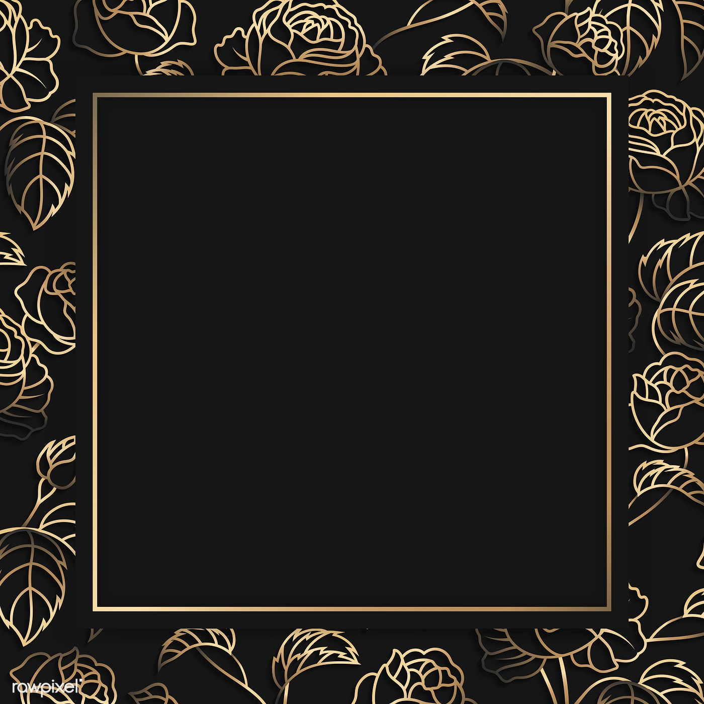 Floral Gold Frame Royalty Free Vector 1218105