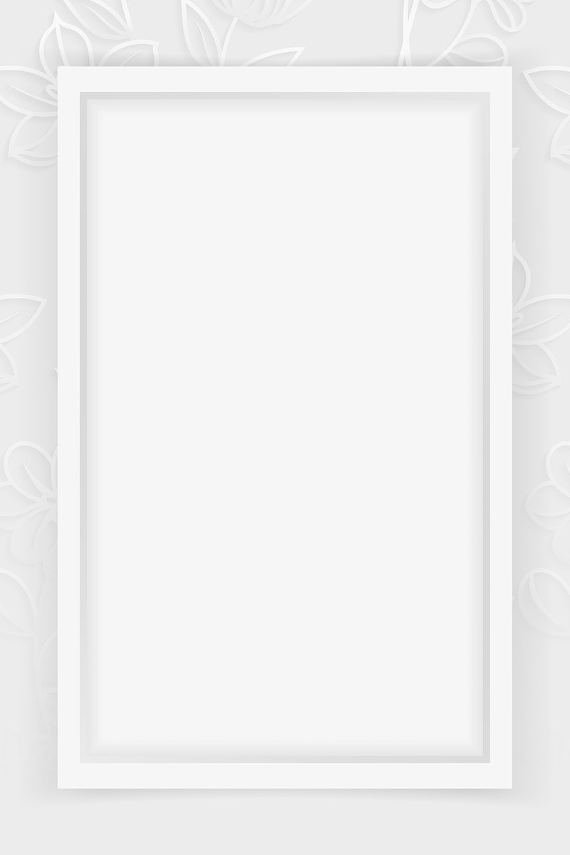 Rectangle frame on silver floral pattern background vector
