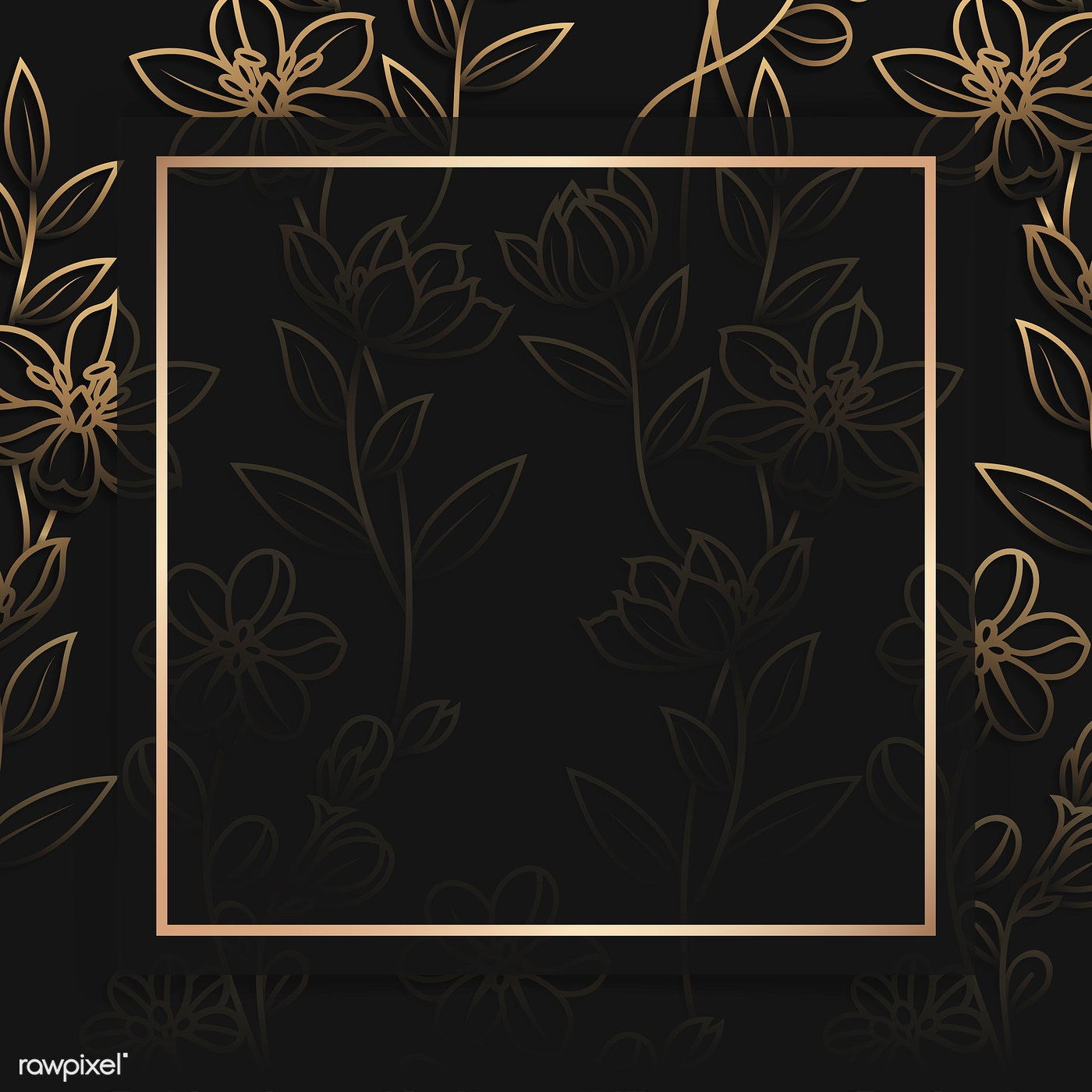 Floral Gold Frame Royalty Free Vector 1218089
