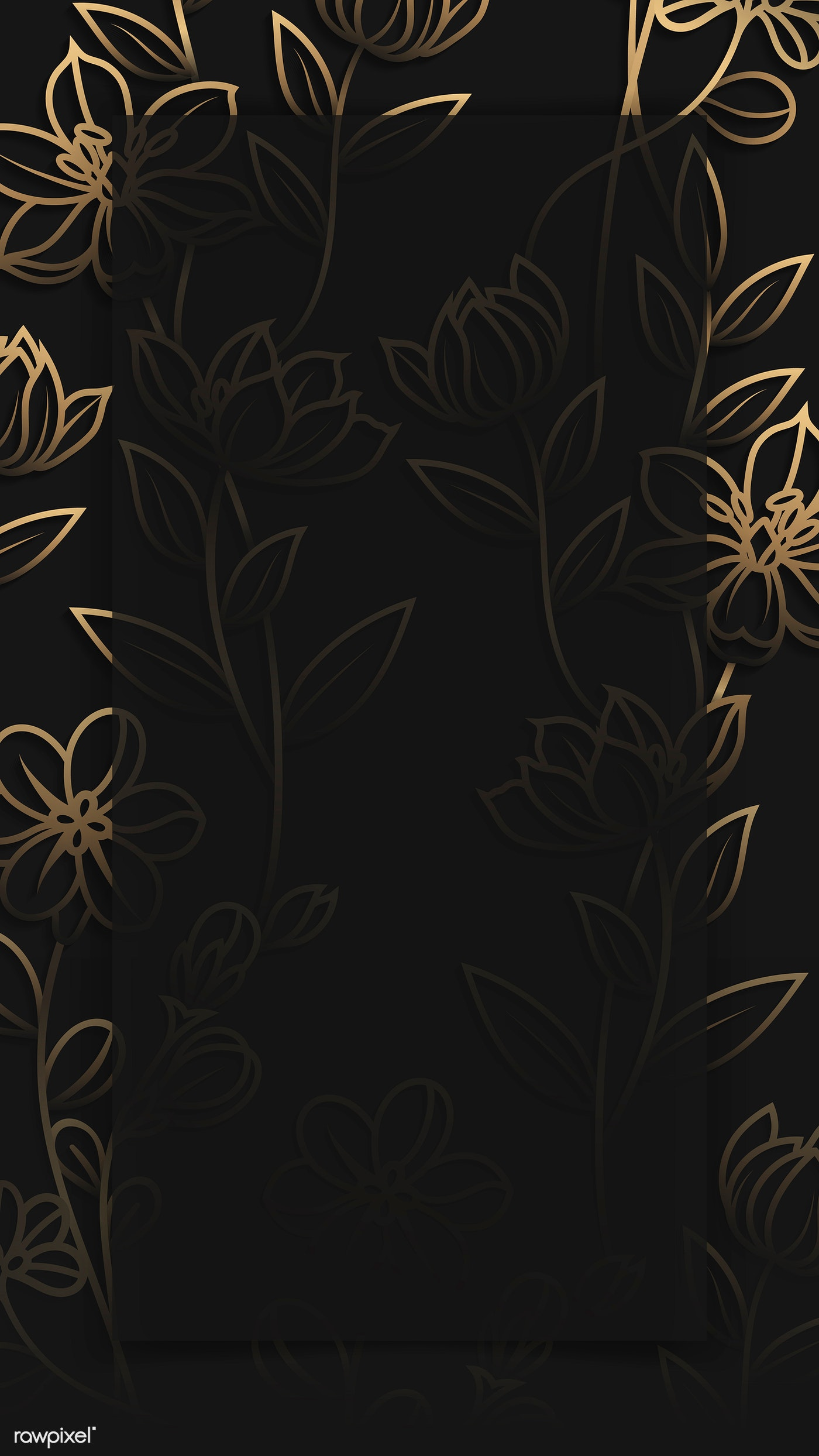 Floral Patterned Phone Background Royalty Free Vector 1218069