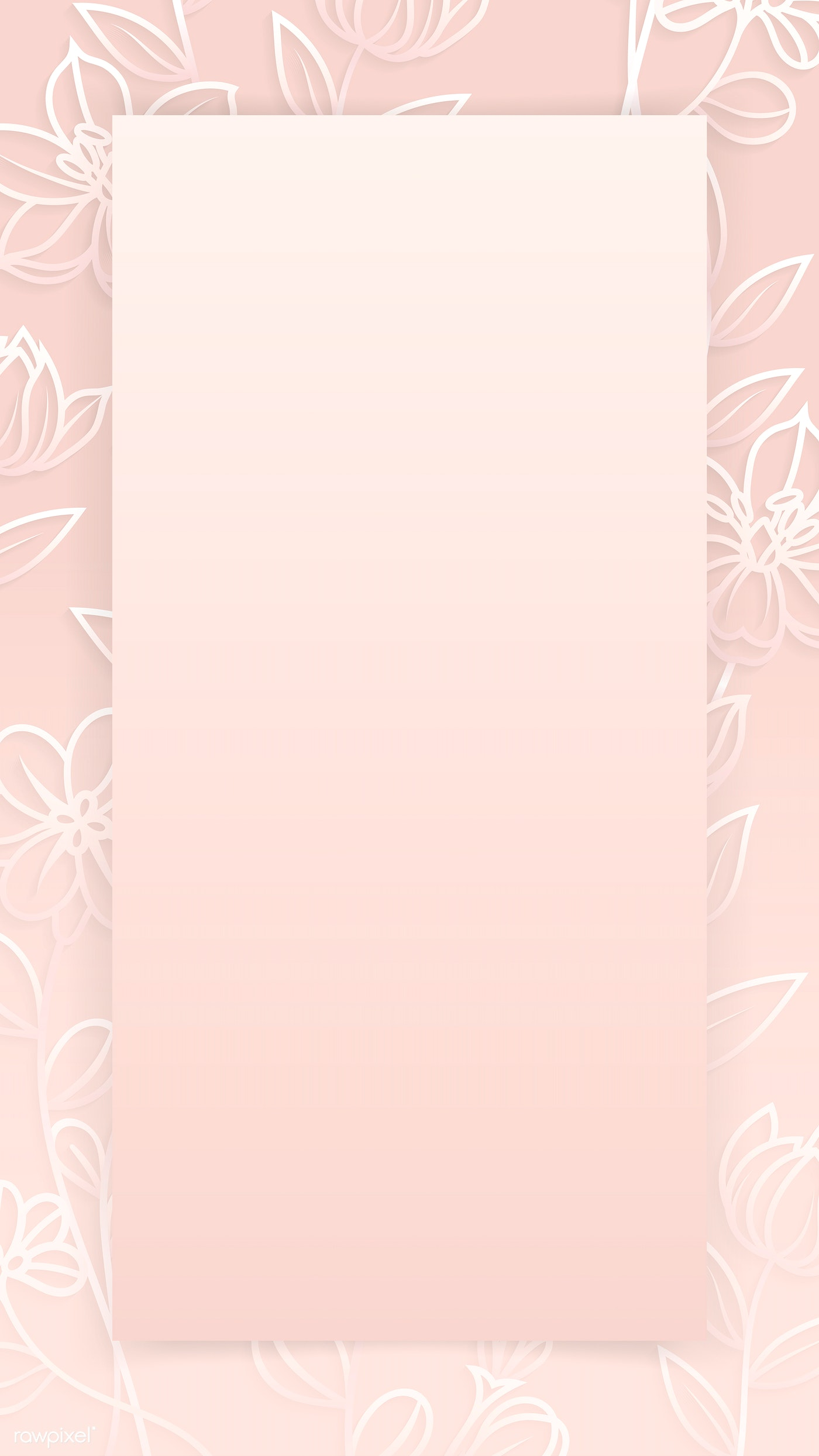 Floral Patterned Phone Background Royalty Free Vector 1218082