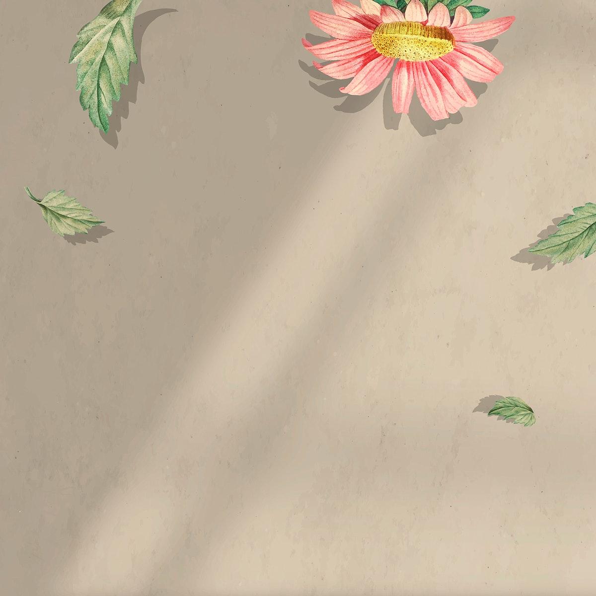 Gerbera daisy pattern frame vector