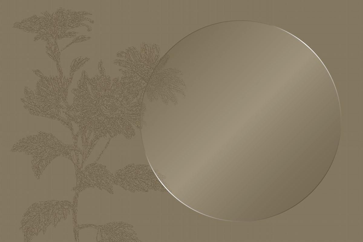 Elegant frame on floral pattern background vector