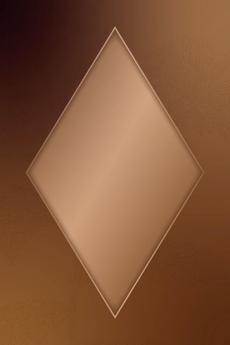 Elegant gold frame on floral pattern background vector