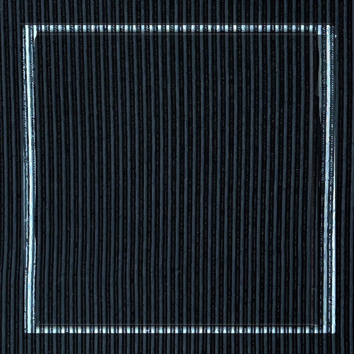 Blue frame on navy blue corduroy textured background vector