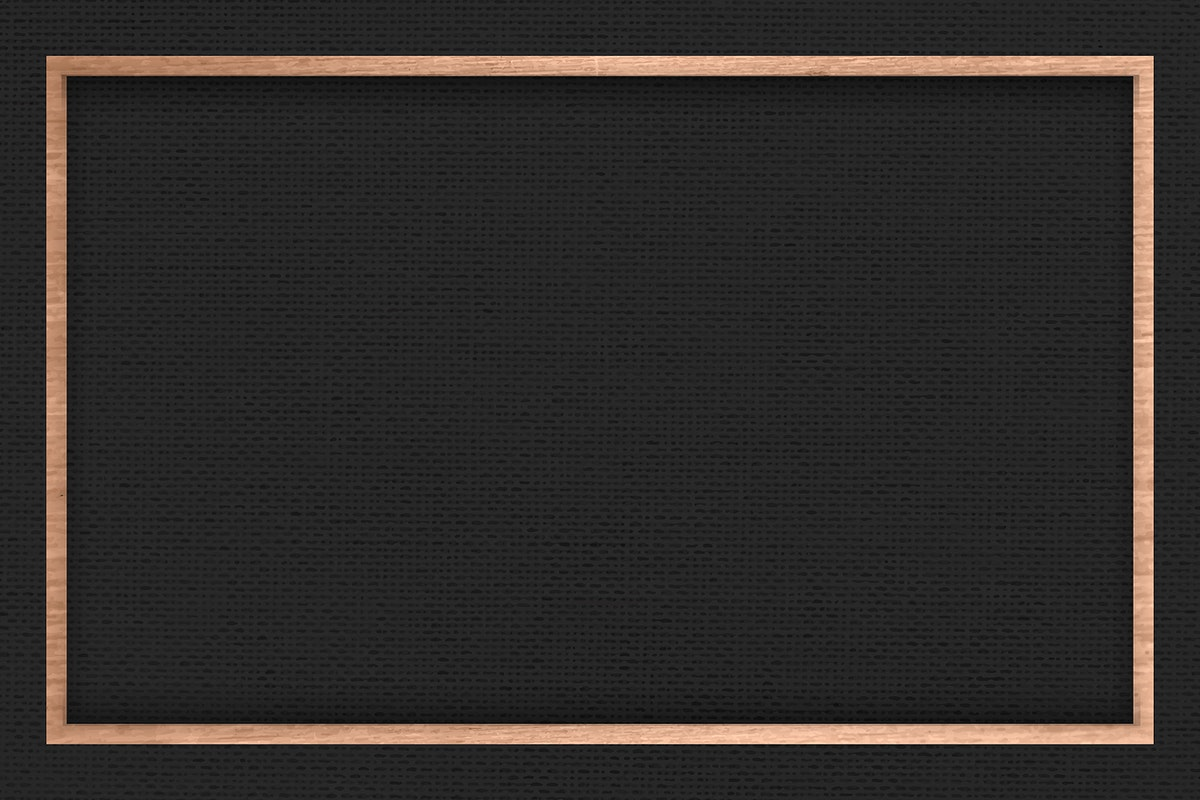Wooden frame on black fabric textured background vector
