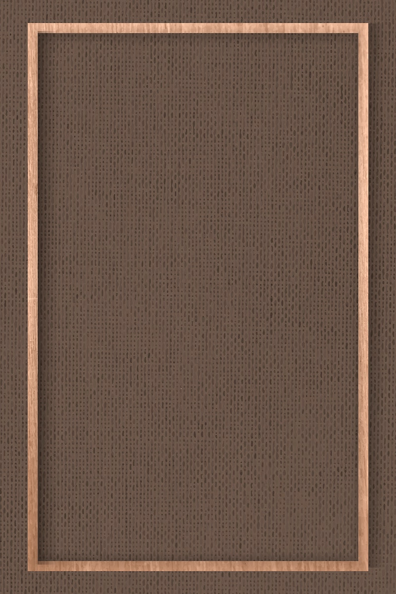 Wooden frame on brown fabric textured background vector