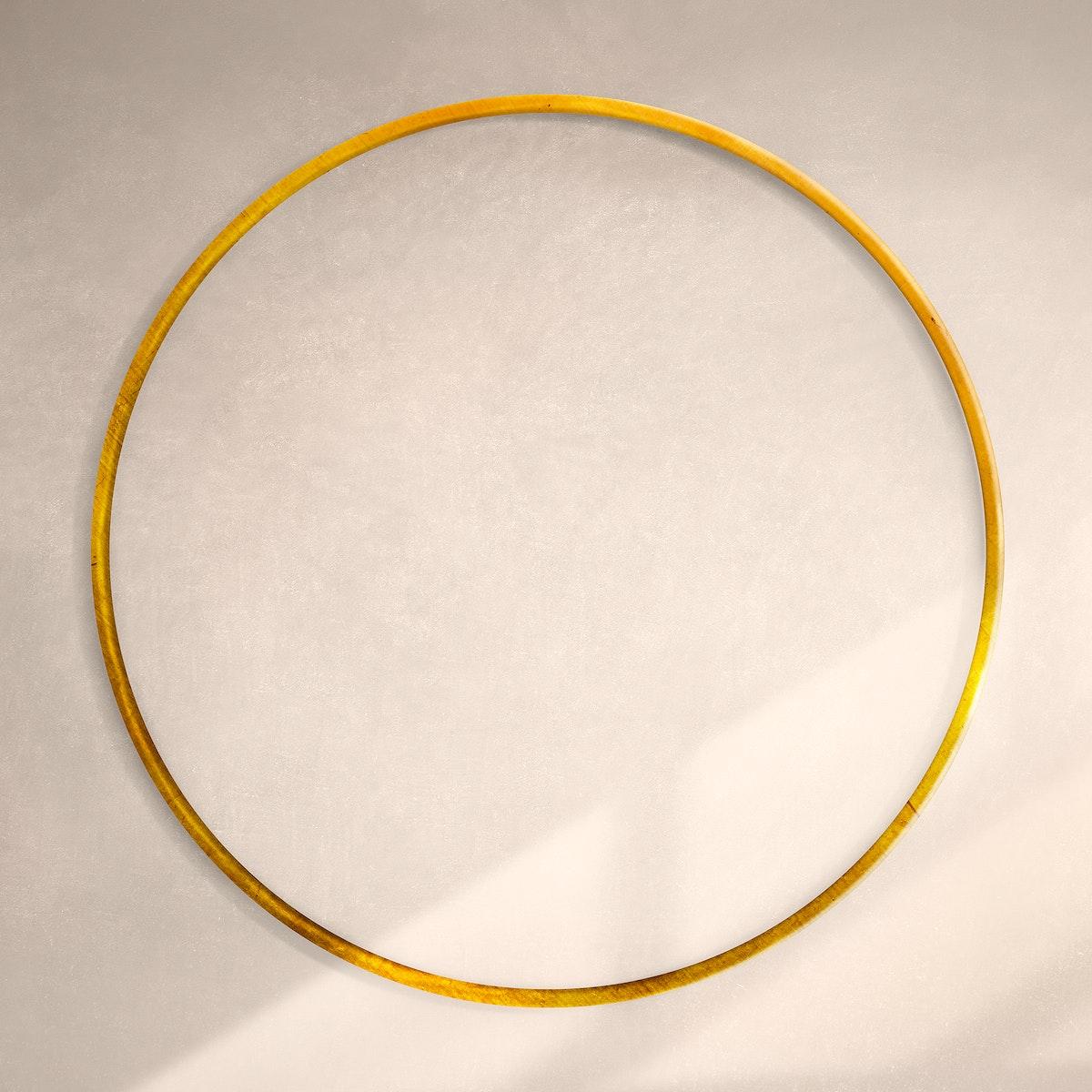 Gold frame on beige background vector