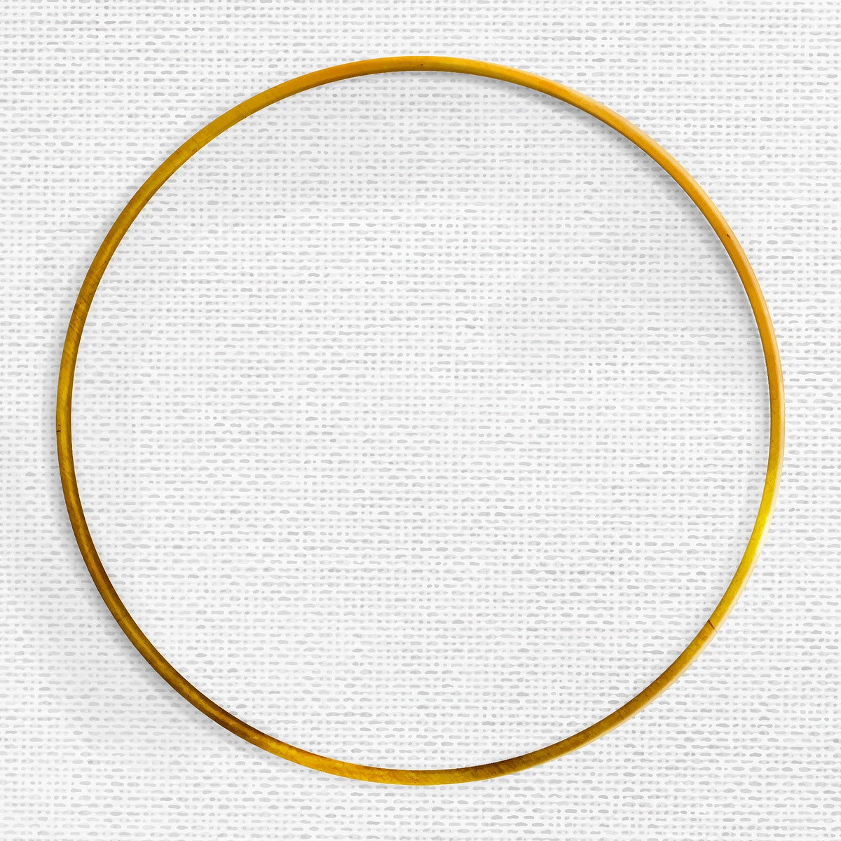Gold frame on gray fabric textured background vector