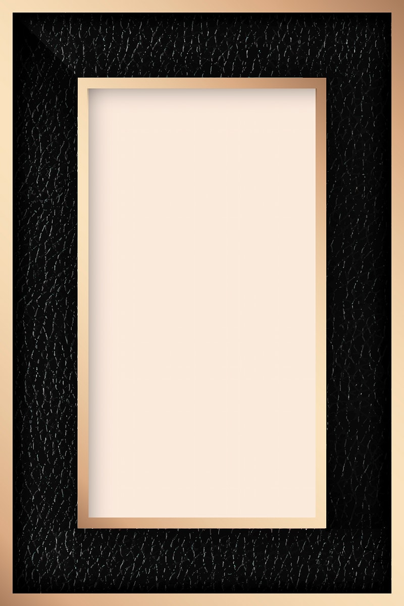 Black leather frame on beige fabric texture background vector