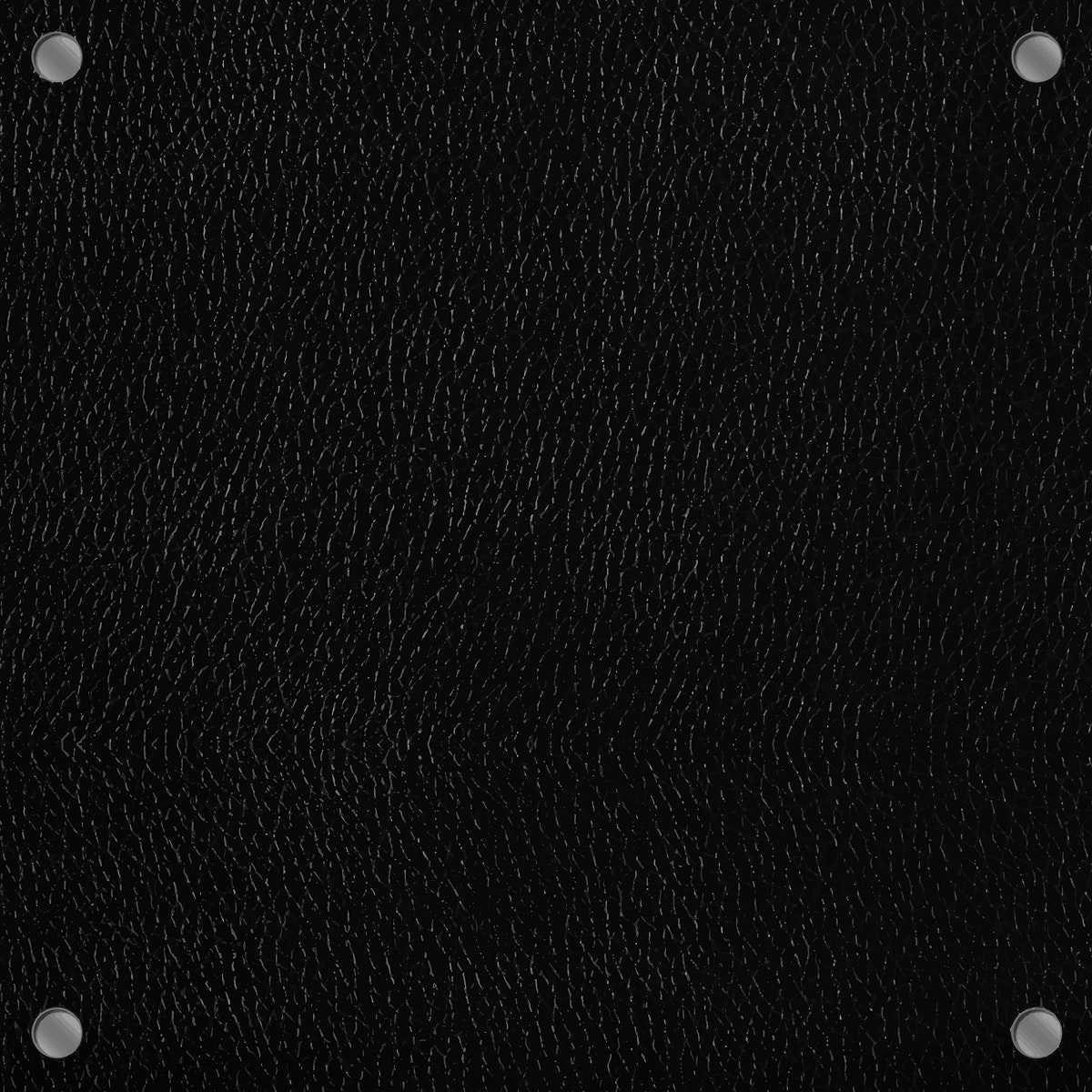 Black leather texture background template vector