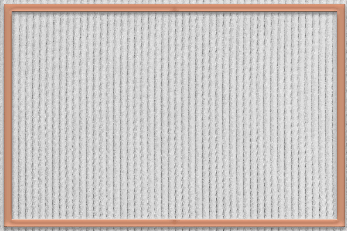 Frame on gray corduroy textured background vector