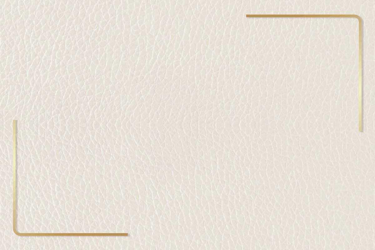 Gold frame on beige leather background vector