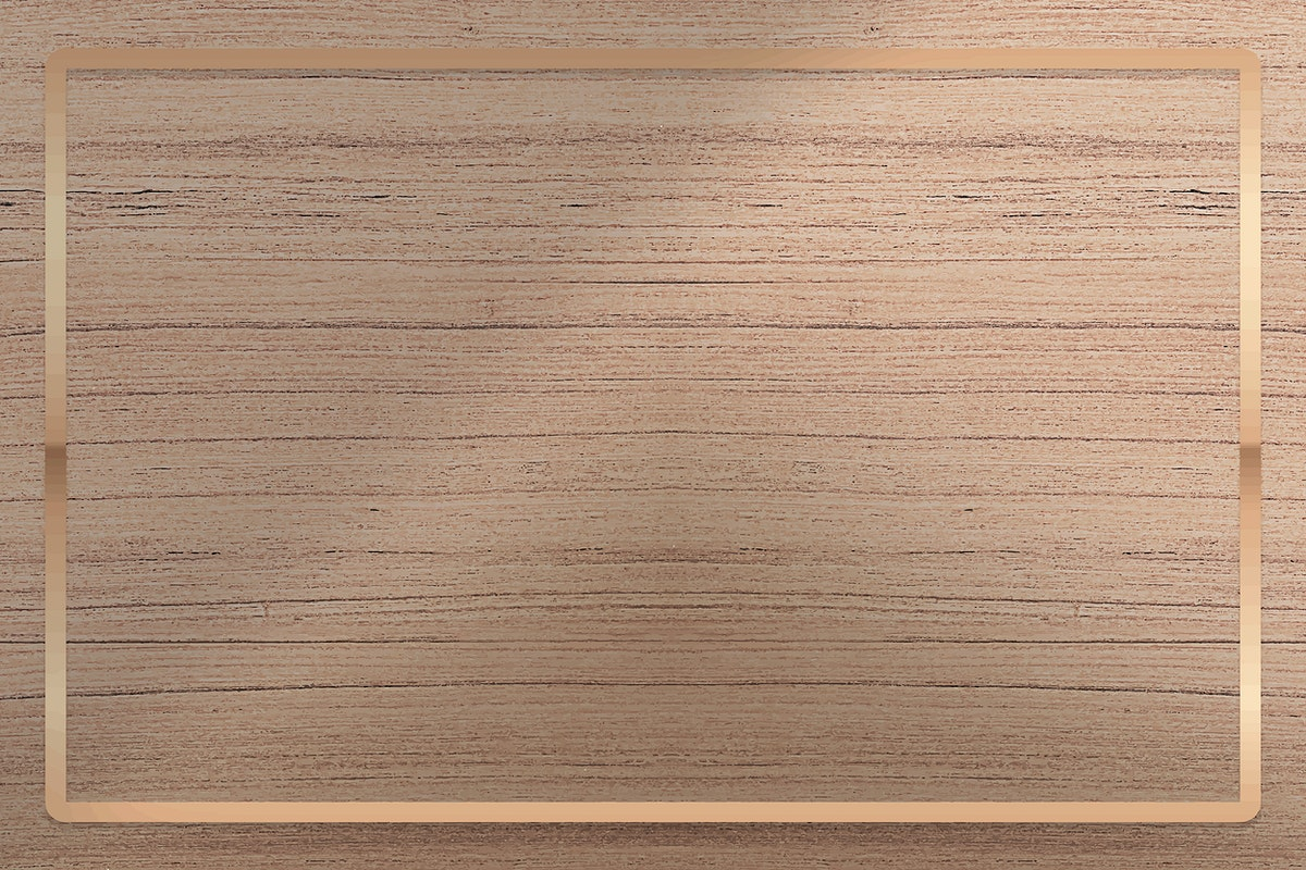 Gold frame on wooden background vector
