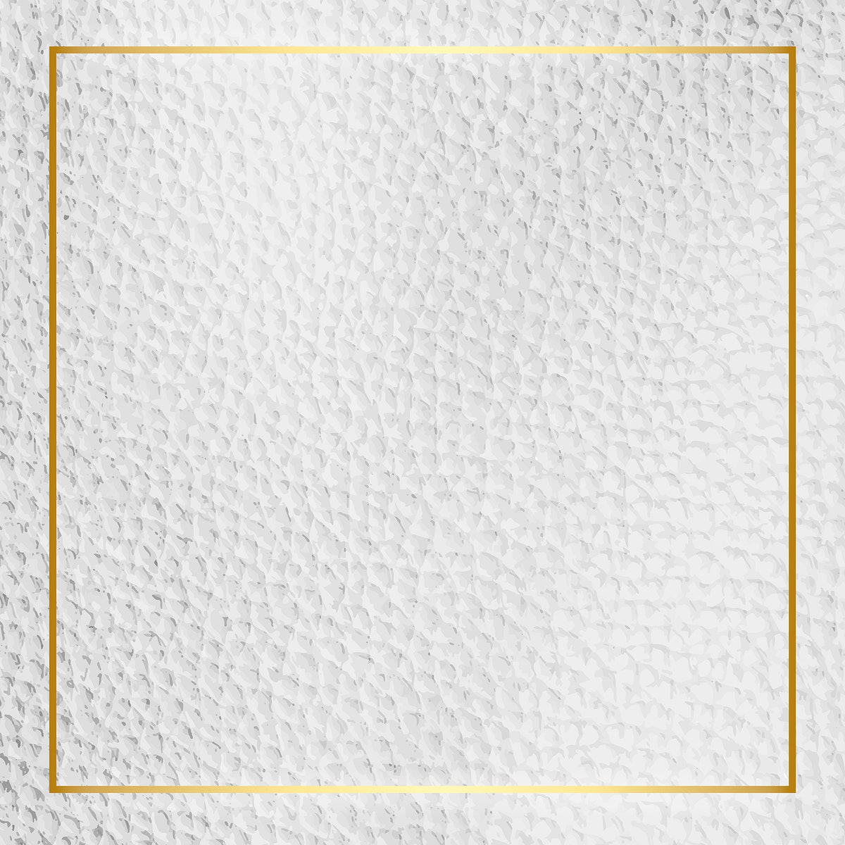 Gold frame on white leather background vector
