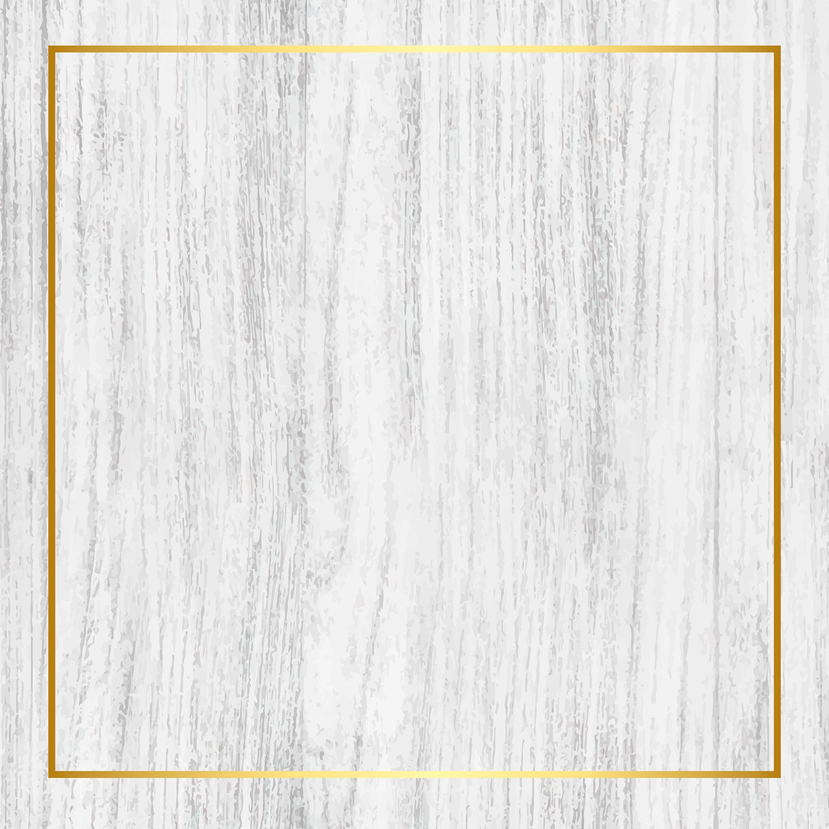 Gold frame on bleached wooden background vector