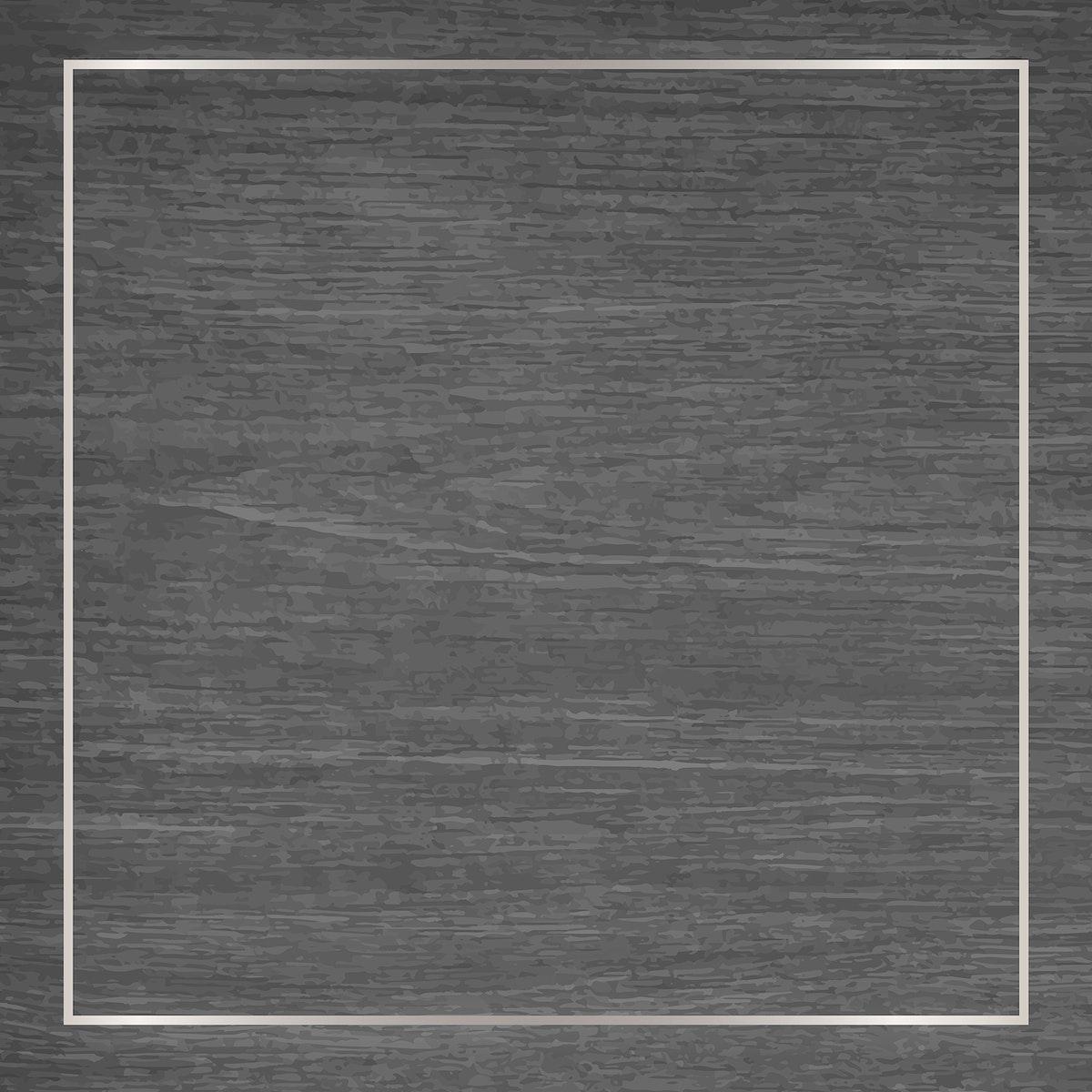 White gold frame on gray wooden background vector