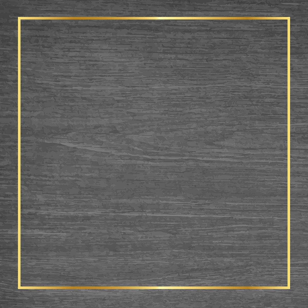Gold frame on gray wooden background vector