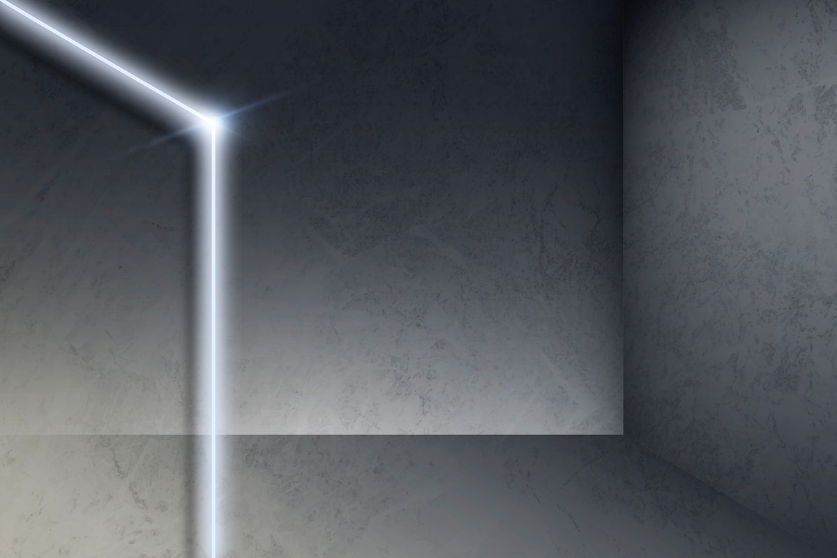 White glowing lines on gray background vector
