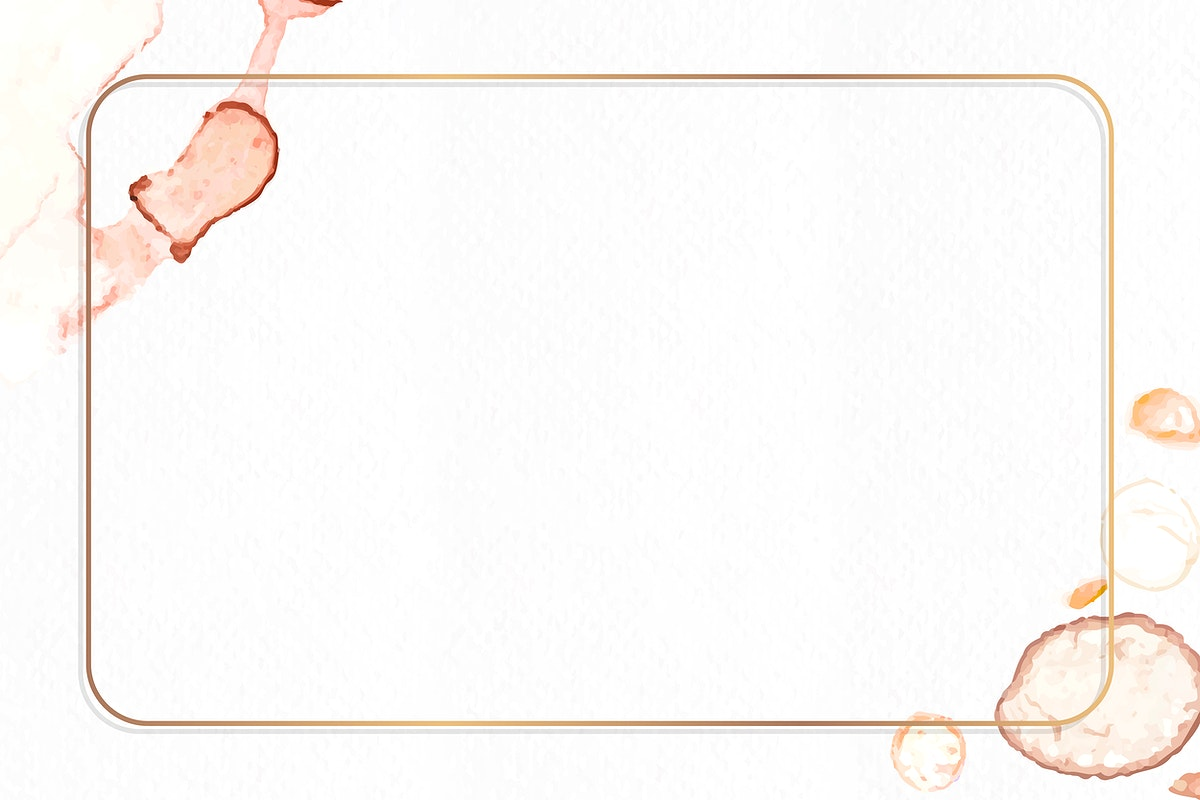 Rectangle gold frame with paintbrush textured background vector