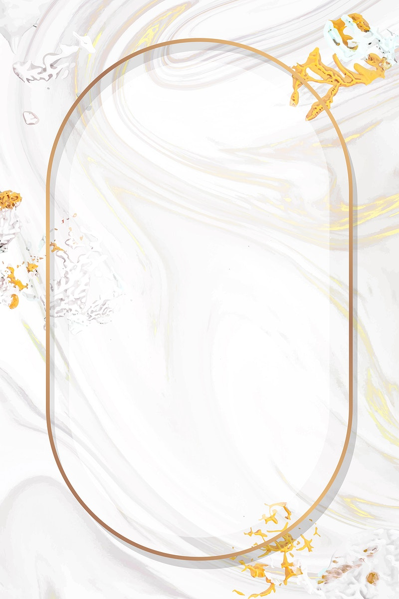 Oval gold frame with paintbrush textured background vector