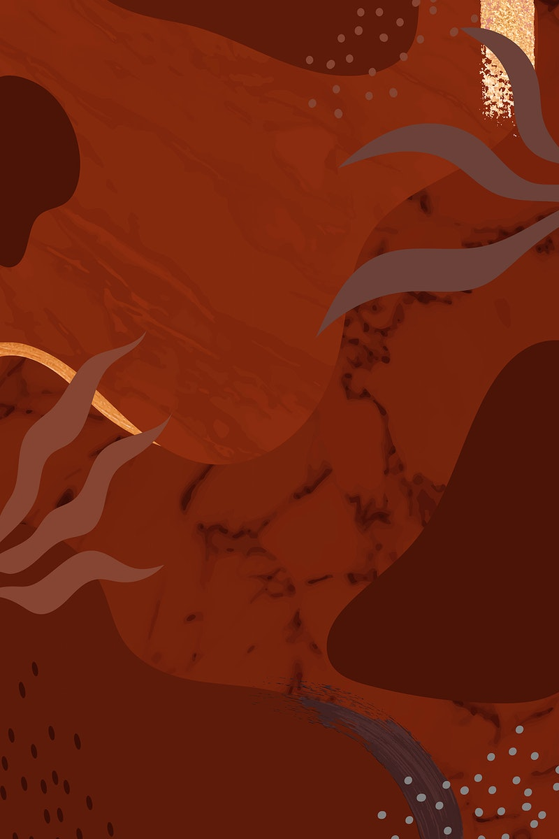 Reddish botanical Memphis pattern background vector