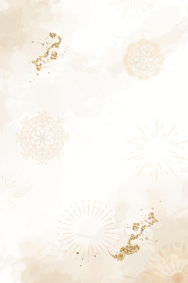 Diwali festival patterned background vector
