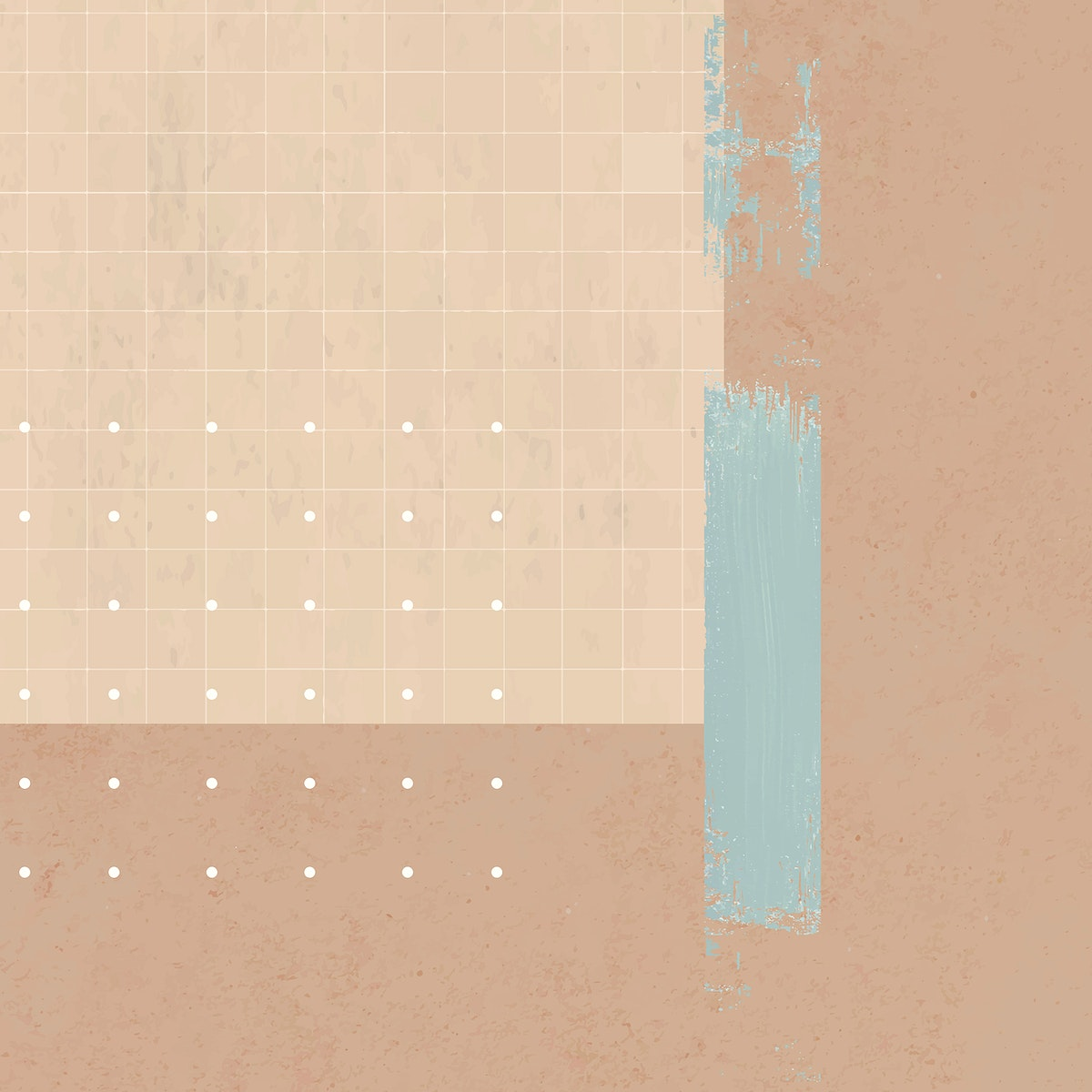 Retro background with white dots and brushstroke vector