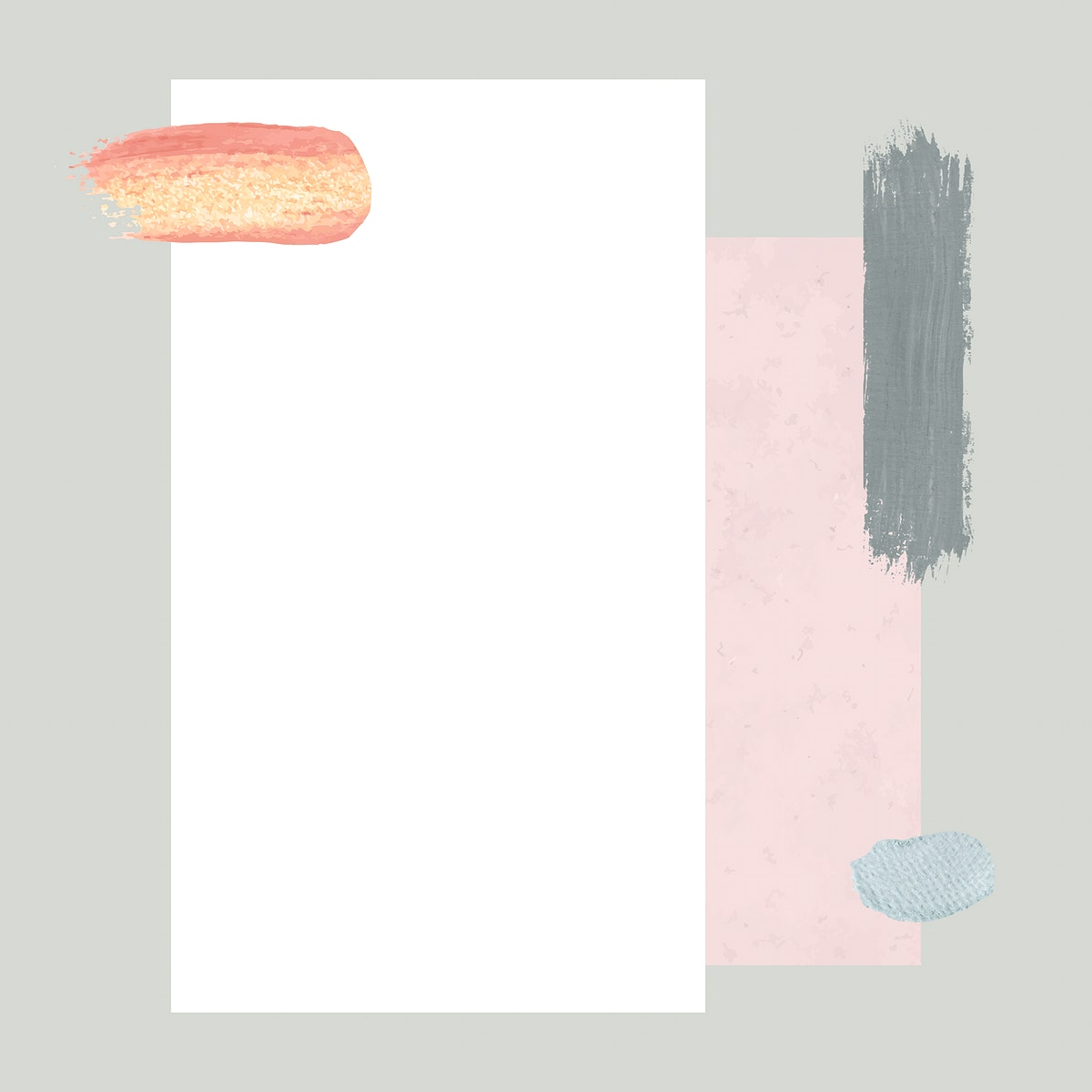 White paper with brushstroke template vector