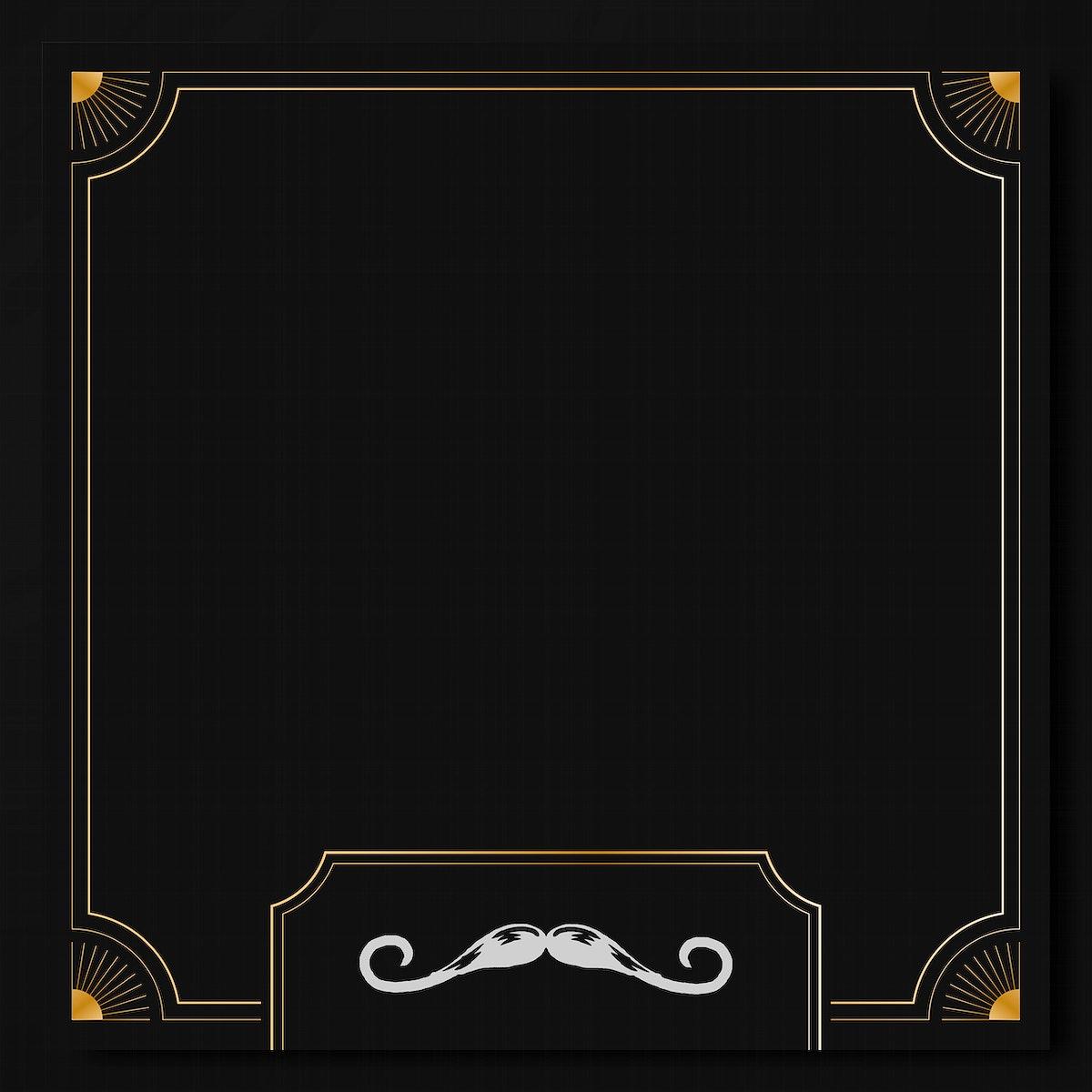 Movember vintage frame design vector