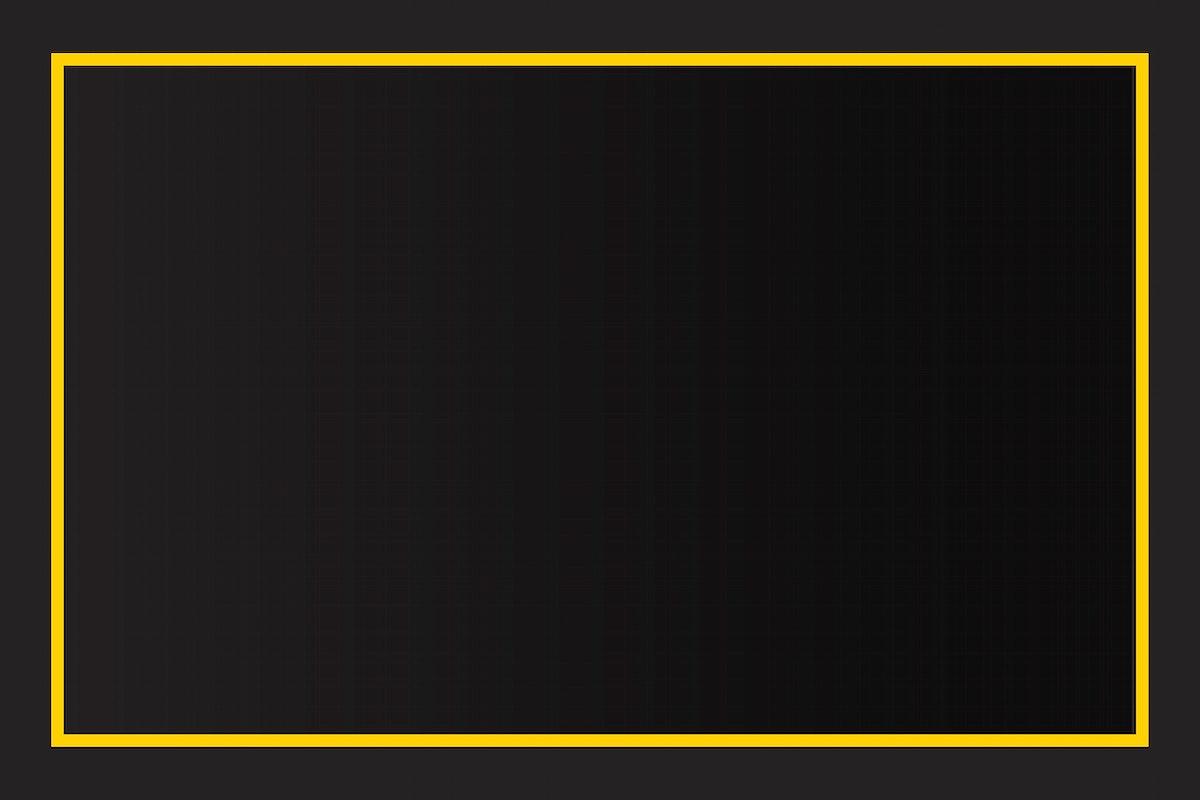 Yellow border black background vector