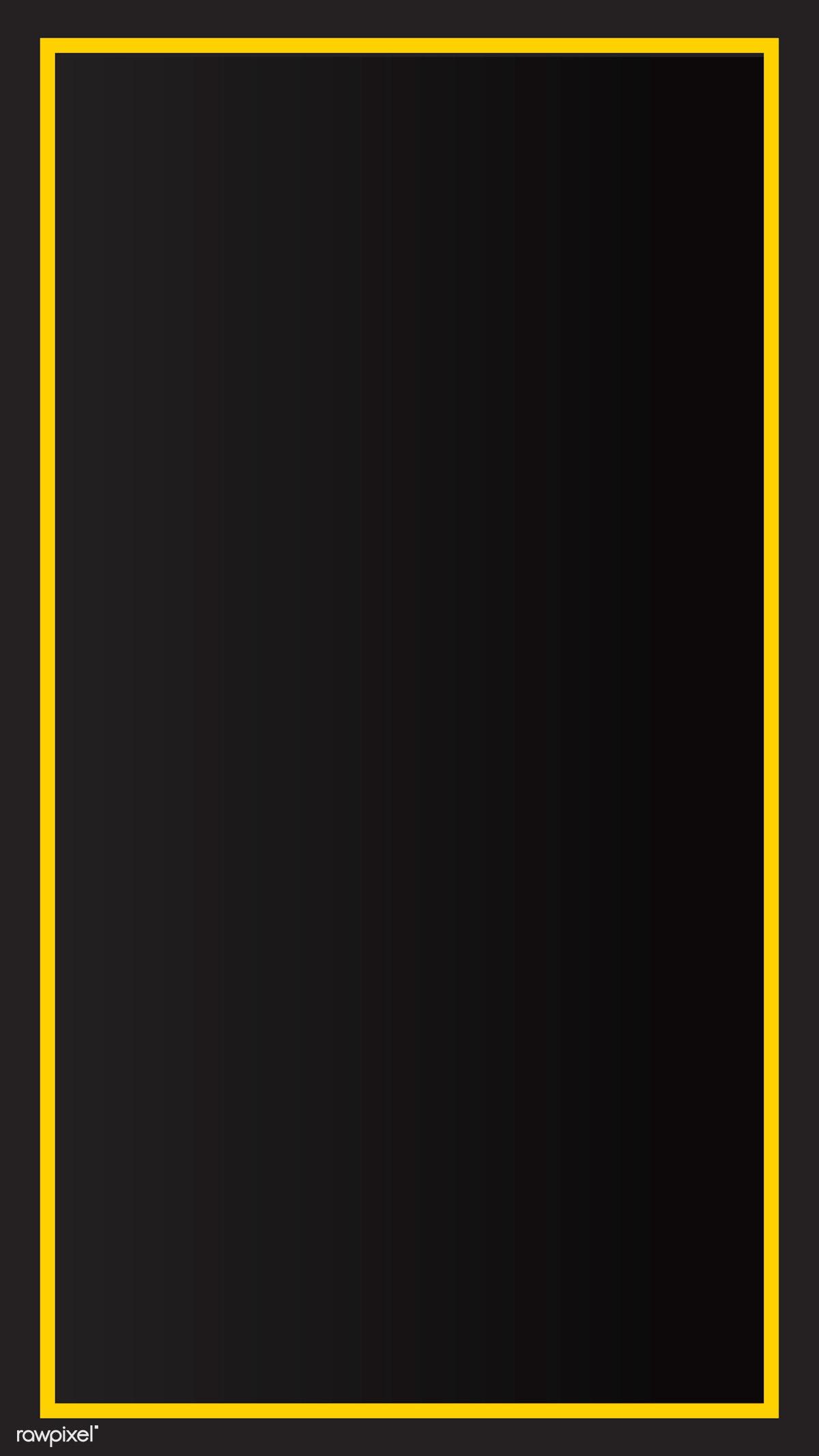 Download Premium Vector Of Yellow Border Black Mobile Phone Wallpaper